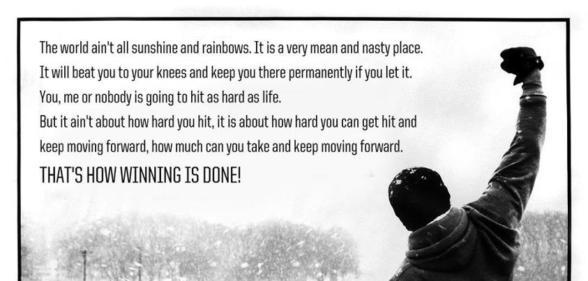 Thoughts About Inspirational Speech From Rocky Balboa