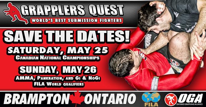 2013 Grapplers Quest Season Opener is May 25-26 in Brampton, Ontario, Canada - Save the Weekend!