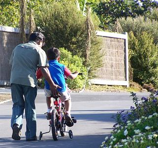 PARENT and Child Inspiration - If you keep pedaling, I'll keep pushing you forward, always and forever - Brian Cimins