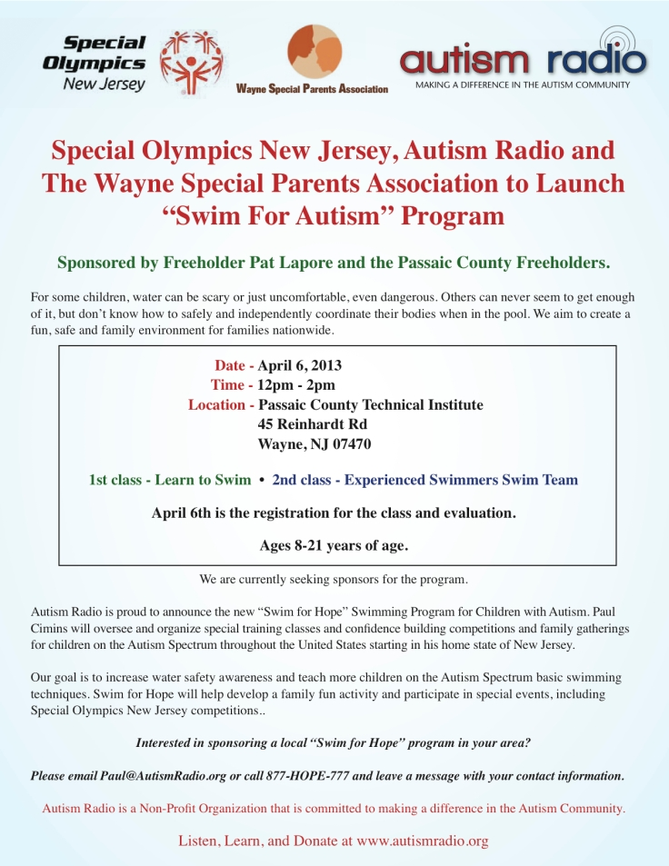 Open House - Special Olympics and Autism Radio Launch Program in Wayne, New Jersey - April 6