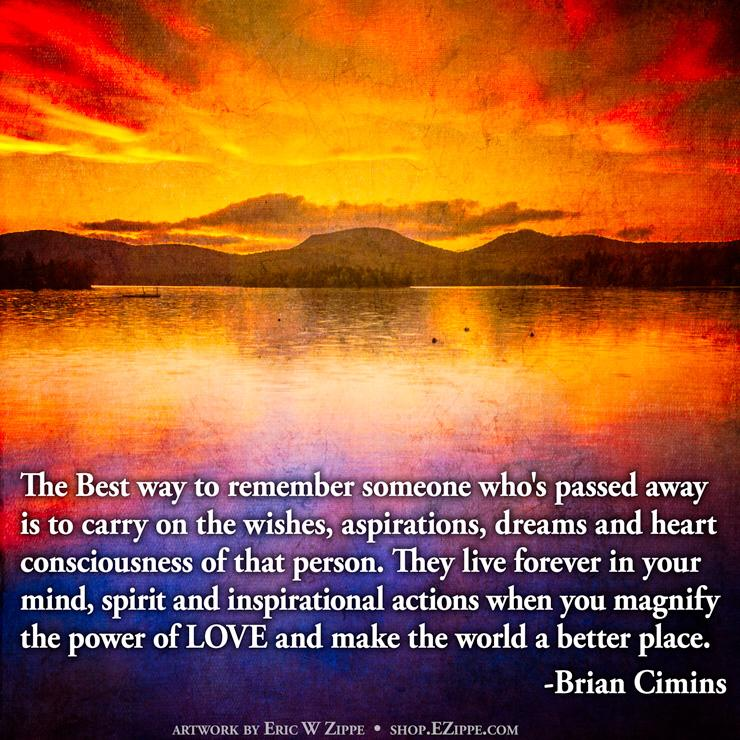 Inspirational Quote for Emotionalizing Death of a Loved One ...