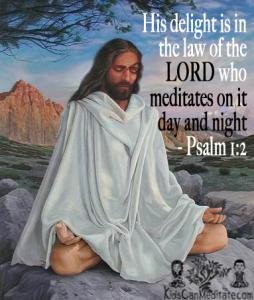 Jesus Christ Meditation Quote Psalm 1:2