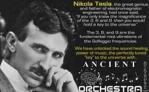Nicolai Tesla Solfeggio Quote Ancient Orchestra Tom Cassella with Brian Cimins